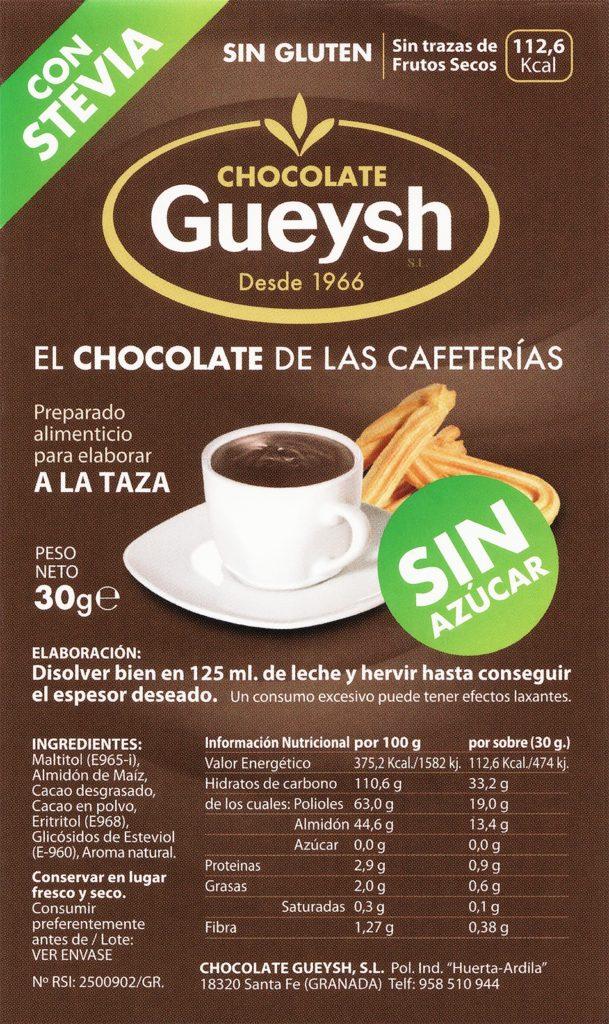 Chocolate caliente Sin Azucar