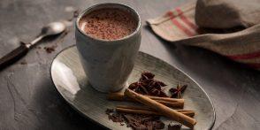 Chocolate Caliente Sin Azucar con Chia Molida.