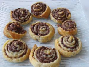 Receta de Espirales de Hojaldre con Chocolate