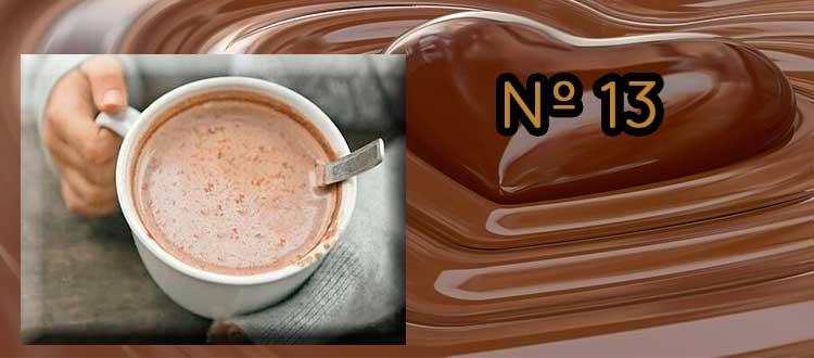 Receta de chocolate a la taza con lima, canela y lino.