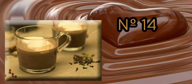 Receta de chocolate a la taza con clavo, nuez moscada y canela