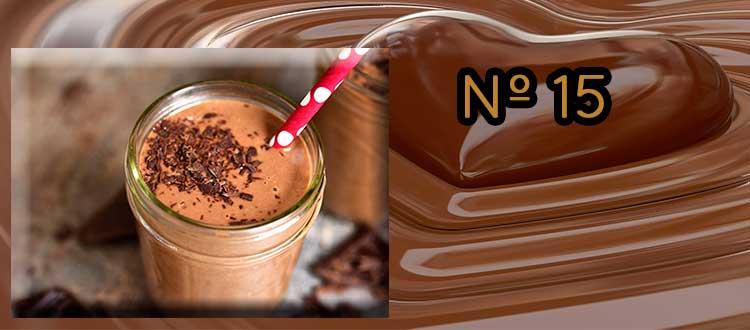 Receta de chocolate a la taza con melocotón, limón y canela