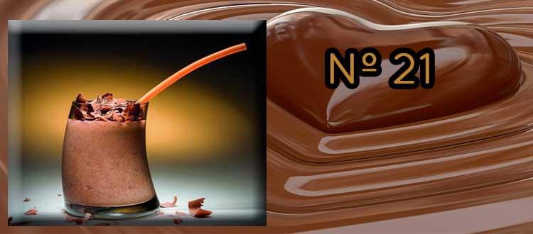 Receta de chocolate a la taza con mango y lima