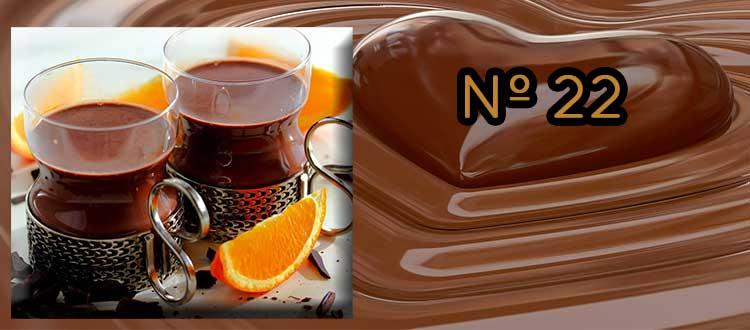 Receta de chocolate a la taza con mermelada de naranja amarga y chía