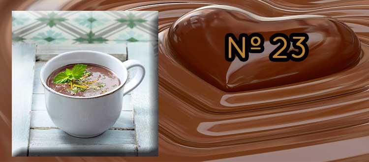 Receta de chocolate a la taza con te de hierbabuena y Jengibre