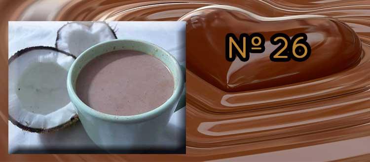 Receta de chocolate a la taza con leche de coco y canela