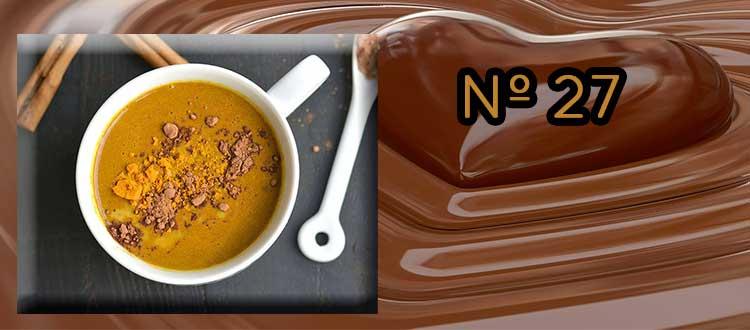 Receta de chocolate a la taza con cúrcuma canela y pimienta
