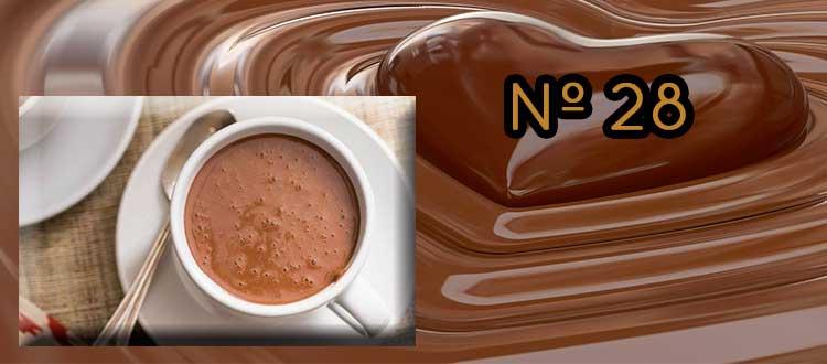 Receta de chocolate a la taza con piña y jengibre