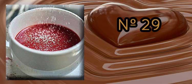 Receta de chocolate a la taza con granada, jengibre y canela