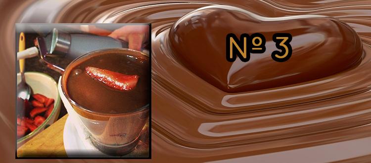 Receta de chocolate a la taza con fresas
