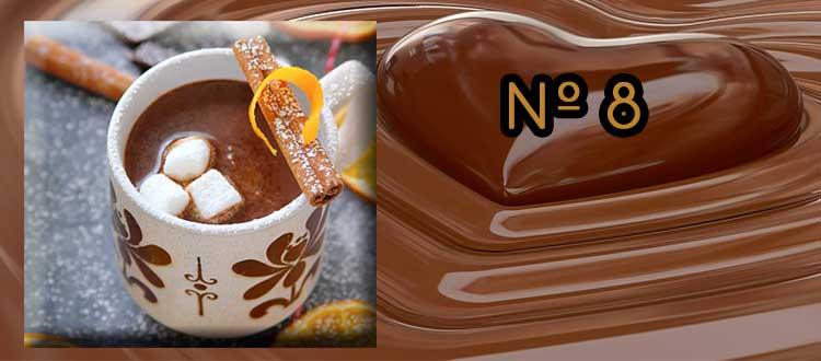 Receta de chocolate a la taza con canela naranja y limón