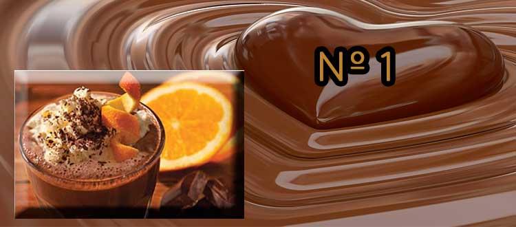 Receta de chocolate a la taza con naranja y jengibre
