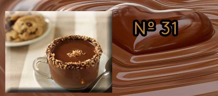 Receta de chocolate a la taza con almendras, canela y sésamo