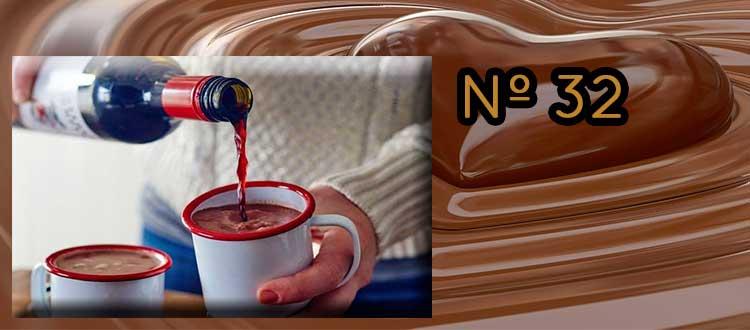 Receta de chocolate a la taza con clavo y vino tinto