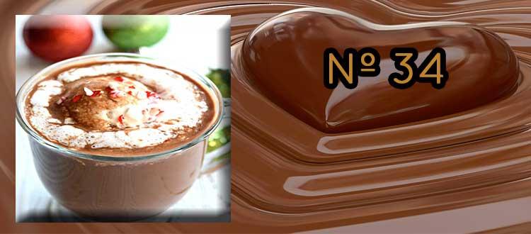 Receta de chocolate a la taza con manzana y canela