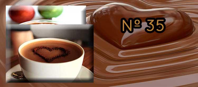 Receta de chocolate a la taza con almendras saladas