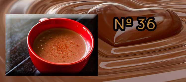 Receta de chocolate a la taza con clavo y pimentón picante