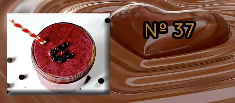 Receta de Chocolate a la taza con arándanos y nueces