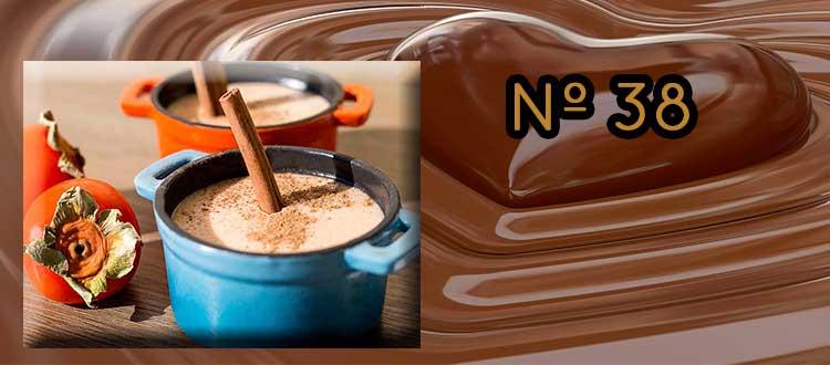 Receta de Chocolate a la taza con caqui y lima