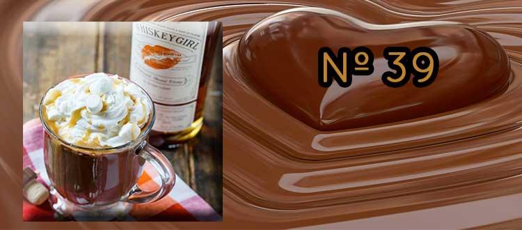 Receta de Chocolate a la taza con whiskey y nata