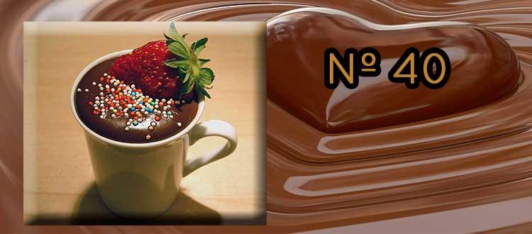 Receta de Chocolate a la taza con mascarpone y fresas