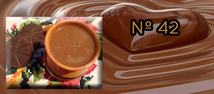 Receta de chocolate a la taza con maracuyá y menta