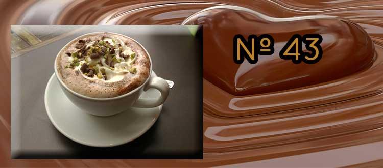 Receta de Chocolate a la taza con pistacho y sésamo.