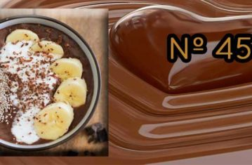 Receta de Chocolate a la taza con leche de coco y plátano