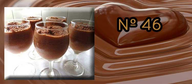 Receta de Chocolate a la taza con Coñac  y naranja