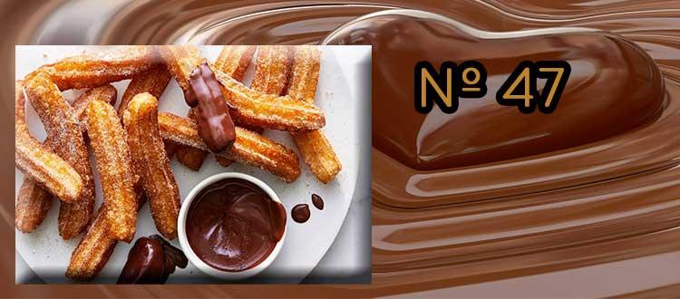 Receta de Chocolate a la taza con ciruela y hierbabuena.