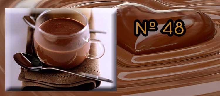 Receta de Chocolate a la taza con té Rooibos, Jengibre y Naranja.