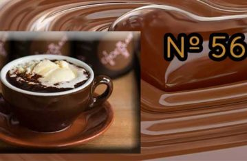 Chocolate a la taza con crema de chirimoya