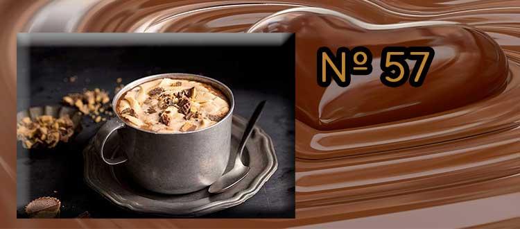 Chocolate a la taza con manteca de cacahuete