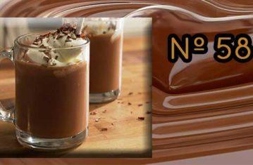 Chocolate a la taza con helado de turrón de Los Italianos