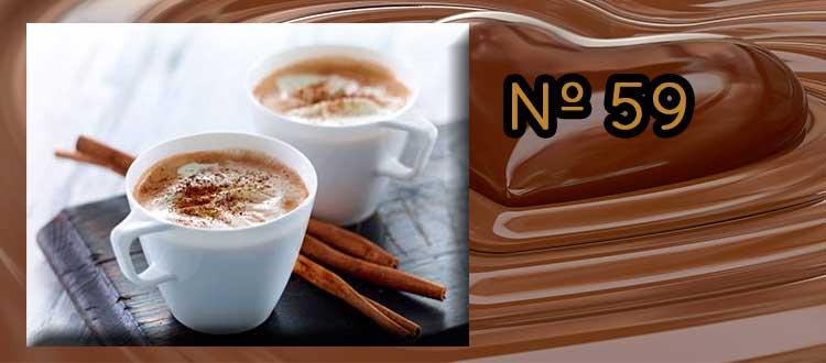 Chocolate a la taza con canela, limón y crema de horchata